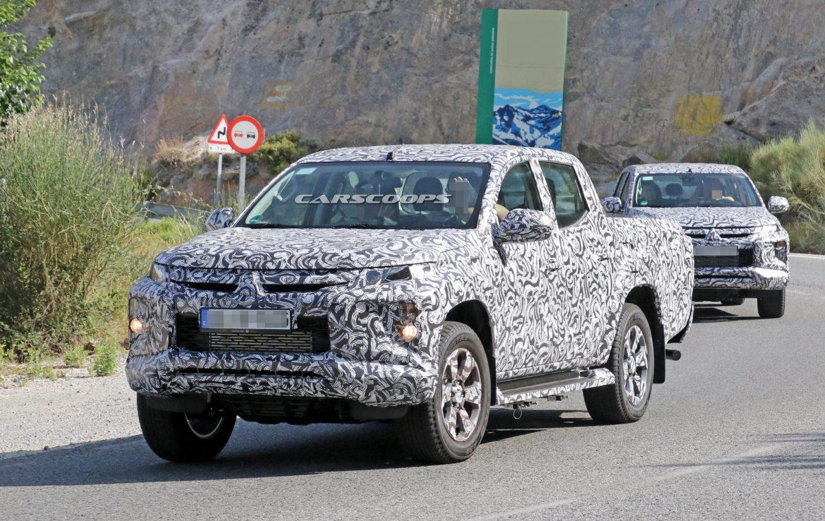 ภาพหลุด Mitsubishi Triton โฉมใหม่ ใช้งานดีไซน์ด้านหน้าของ Pajero Sport แล้ว